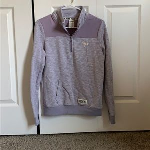 Victoria Secret Pink Quarter Zip Sweatshirt